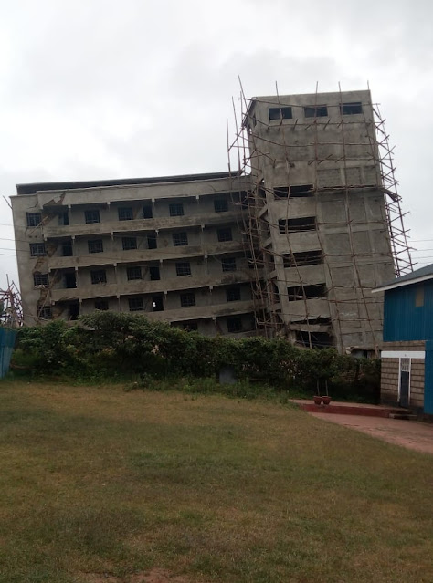 Kinoo building collapsing in Kinoo photo