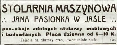 Jasło stolarnia parowa 1915