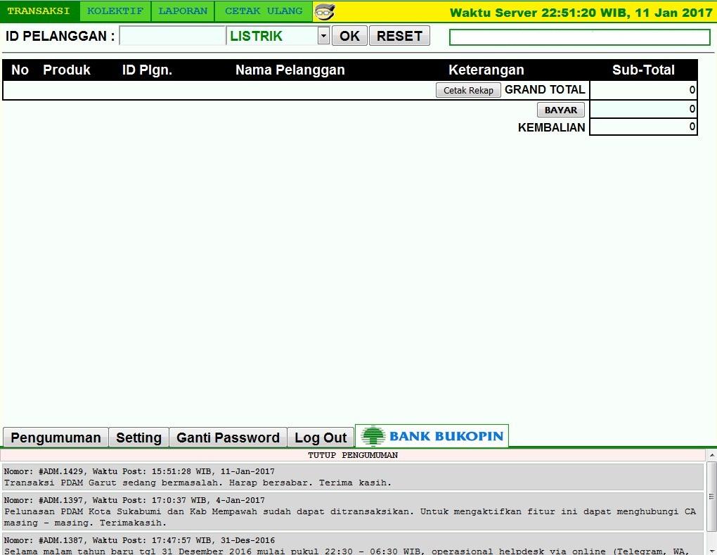 Loket Pembayaran Listrik, PDAM dan Lainnya di Aceh Besar