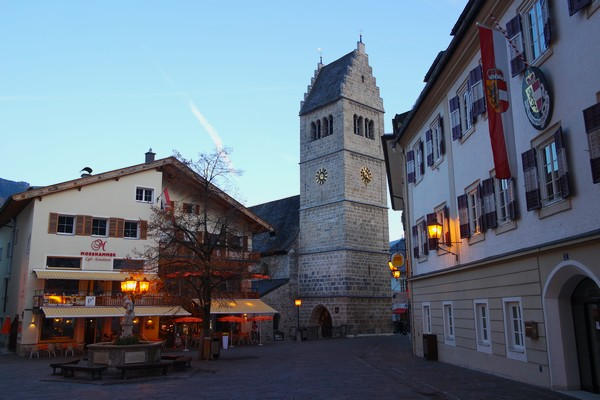 autriche salzbugerland zell am see village église