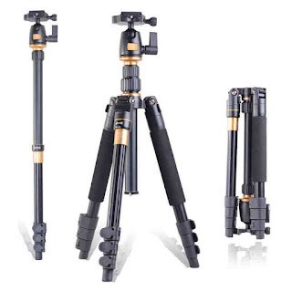 QZSD Q555 Professional Photographic Portable Monopod Tripods + Ball Head