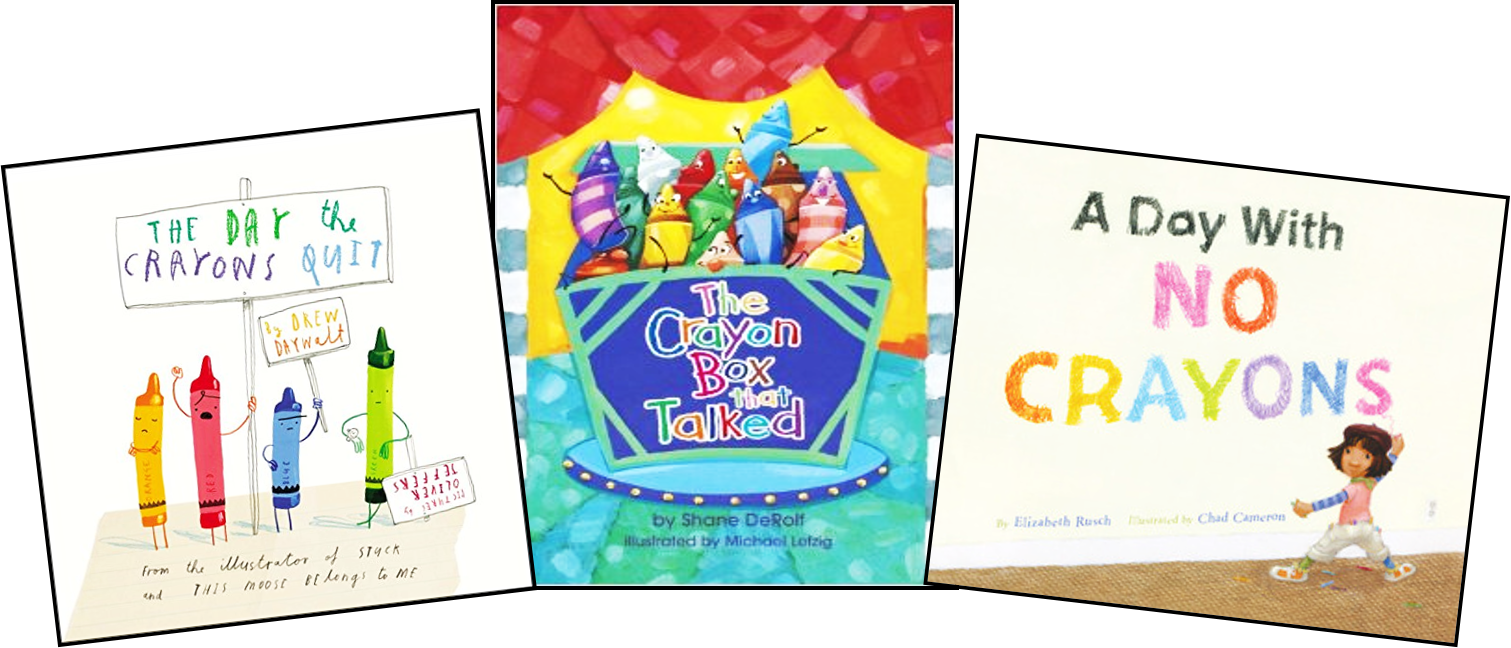 crayon themed picture books