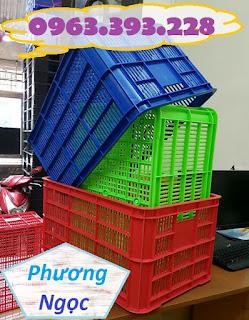 sot61x42x31. - Sọt nhựa rỗng HS004 cao 31, sọt nhựa đựng nông sản, sóng nhựa hở HS004