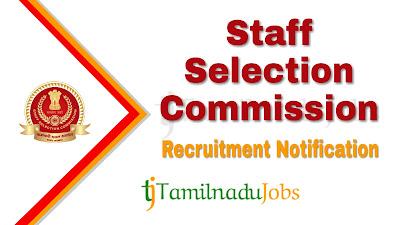 SSC Recruitment notification 2020, Govt jobs for graduate, central govt jobs