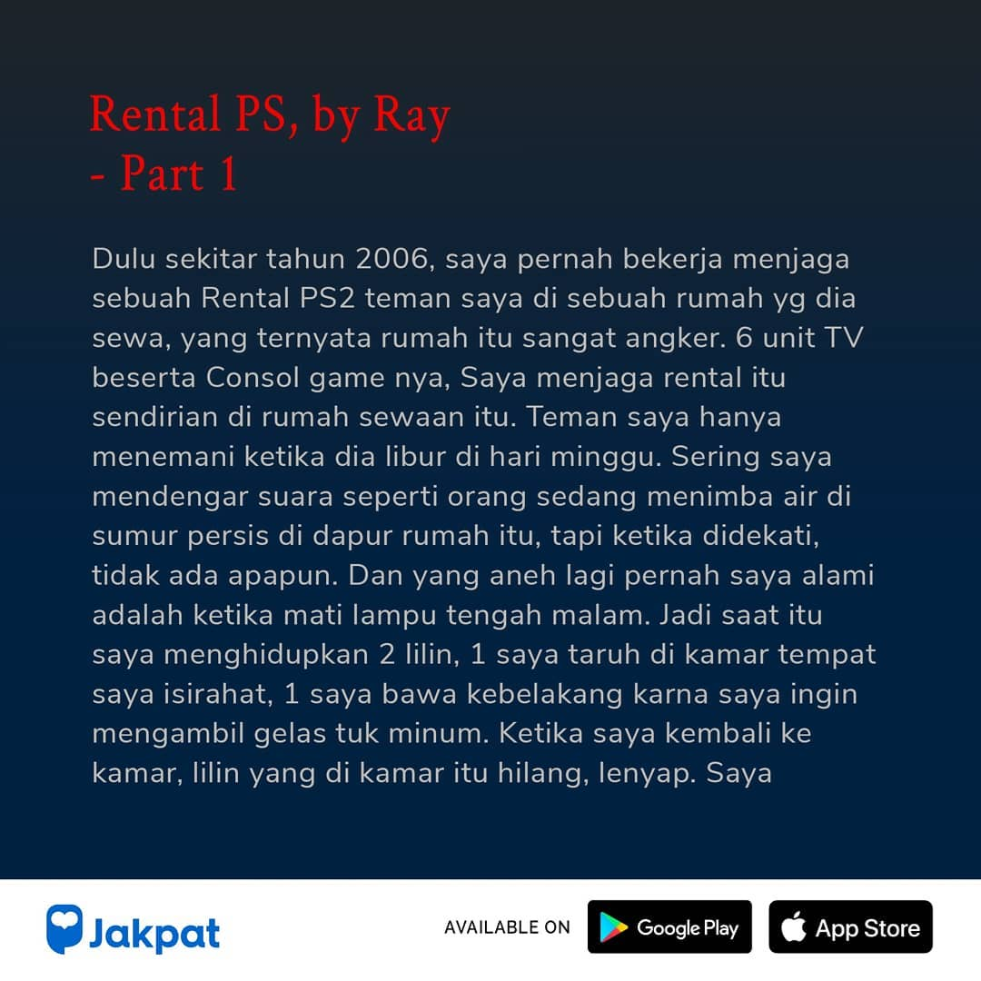 Kisah Misteri Rental PS, by Ray Part 1