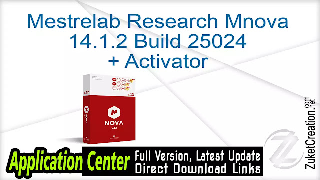Mestrelab Research Mnova 14.1.2 Build 25024 + Activator