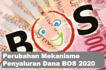 erubahan mekanisme penyaluran dana BOS, dari Rekening Kas Umum Negara disalurkan ke Rekening Kas Umum Daerah.