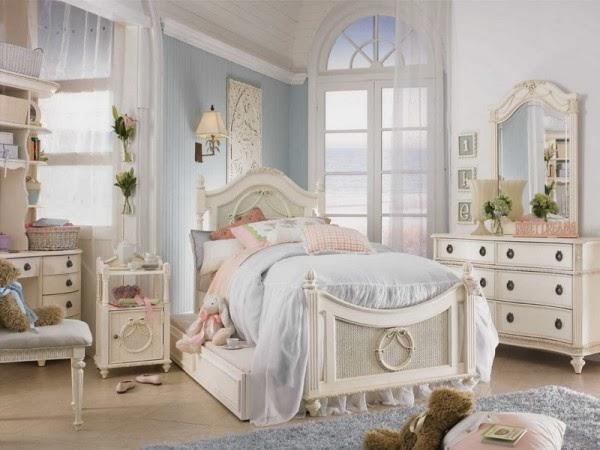 dormitorio niña Shabby-chic