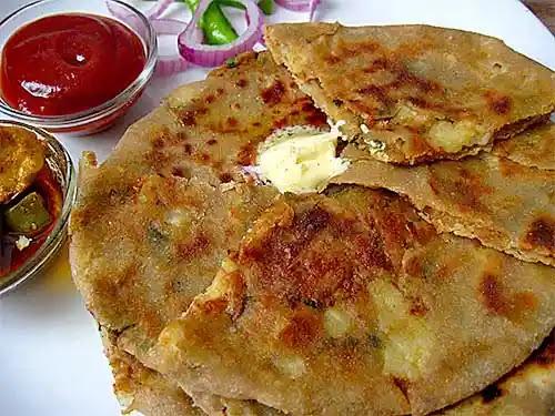 Aloo Paratha Recipe   Dhaba style veg paratha recipe