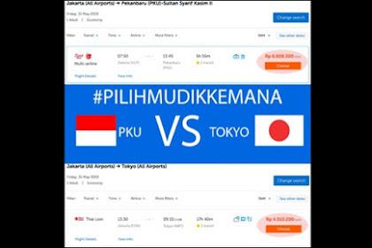 Waduh! Tiket Dijual Rp6,5 Juta, Naik Pesawat ke Pekanbaru Lebih Mahal Dibanding ke Jepang