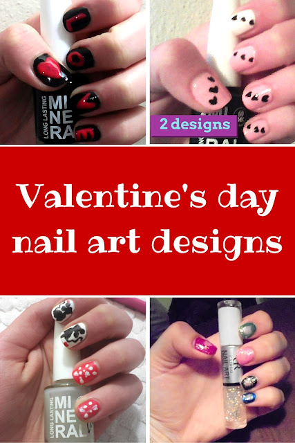Velentine's day EASY nail art tutorials