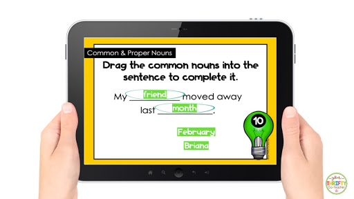 No prep task cards to use when reviewing common nouns and proper nouns with your upper elementary students.