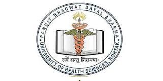 University of Health Sciences Rohtak Recruitment 2020 153 Senior Junior Vacancy,pandit bhagwat dayal sharma university of health sciences rohtak vacancy