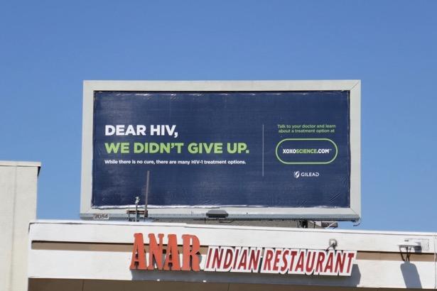 Dear HIV didnt give up Gilead billboard