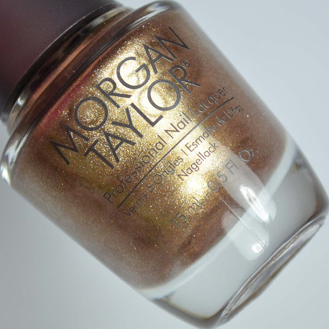 gold metallic nail polish
