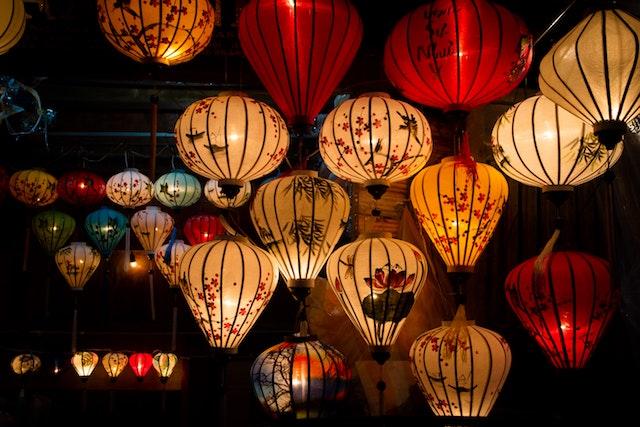 foto lanterne di Hoi An Vietnam