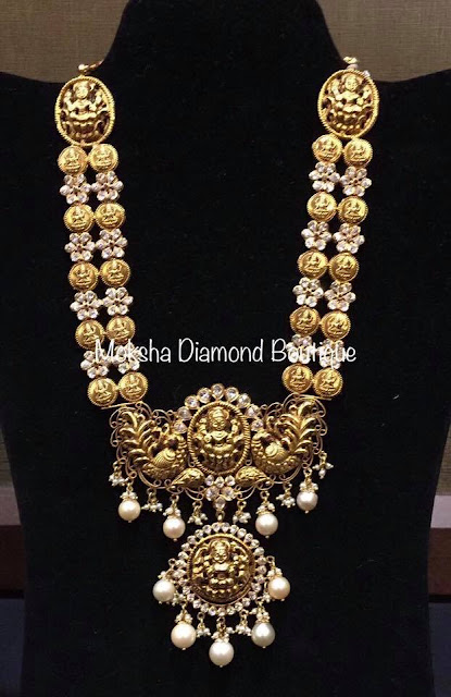 Two Layer kasu Maa with Diamond Flowers