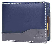 Navy Extra design leather wallet