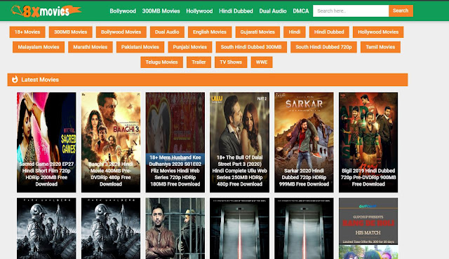 8XMoviess 2021: illegal movies downloading website