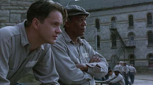 Tim Robbins, Morgan Freeman in The Shawshank Redemption