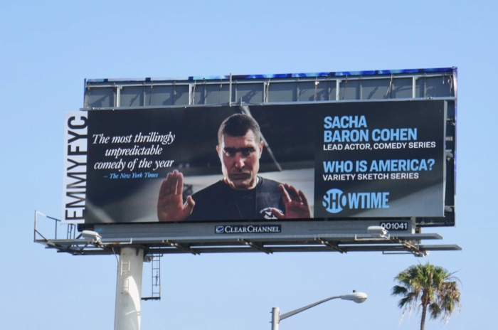 Who Is America season 1 Emmy billboard