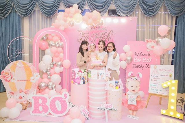 Thuê trang trí sinh cho bé gái tại nhà hàng ở Hà Nội