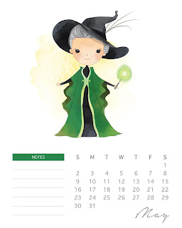 Calendario 2021 de Harry Potter para Imprimir Gratis.