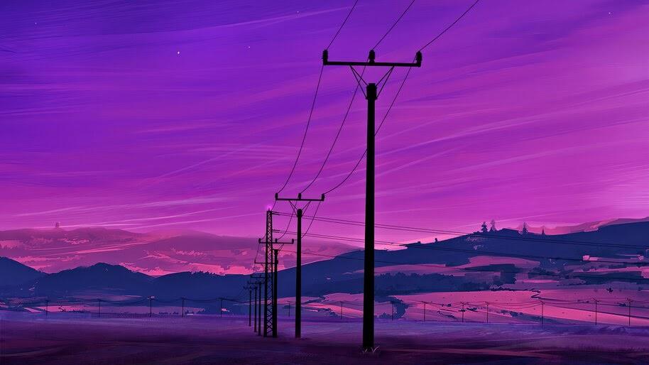 Neon, Scenery, Landscape, Digital Art, 4K, #6.2185