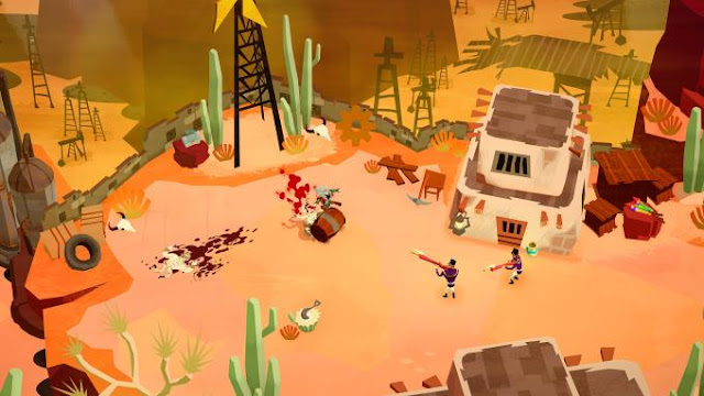The game Bloodroots is an extremely dynamic action game where the environment itself can be used as a weapon.