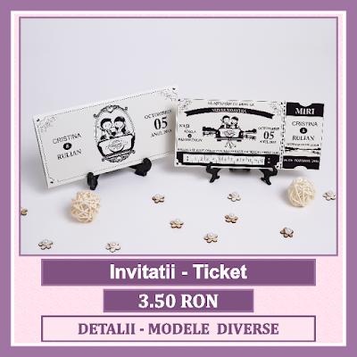 http://www.bebestudio11.com/2017/01/invitatii-nunta-ticket.html