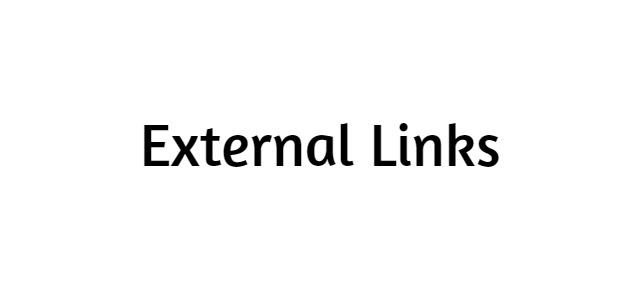 External Links | Code Sample | Optimization and Link Building