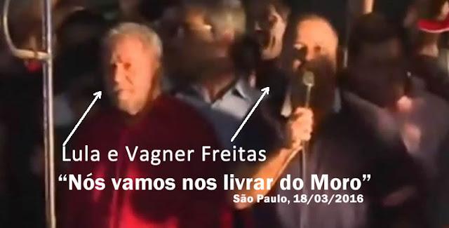 Líder da da CUT ameaça o Juiz Moro