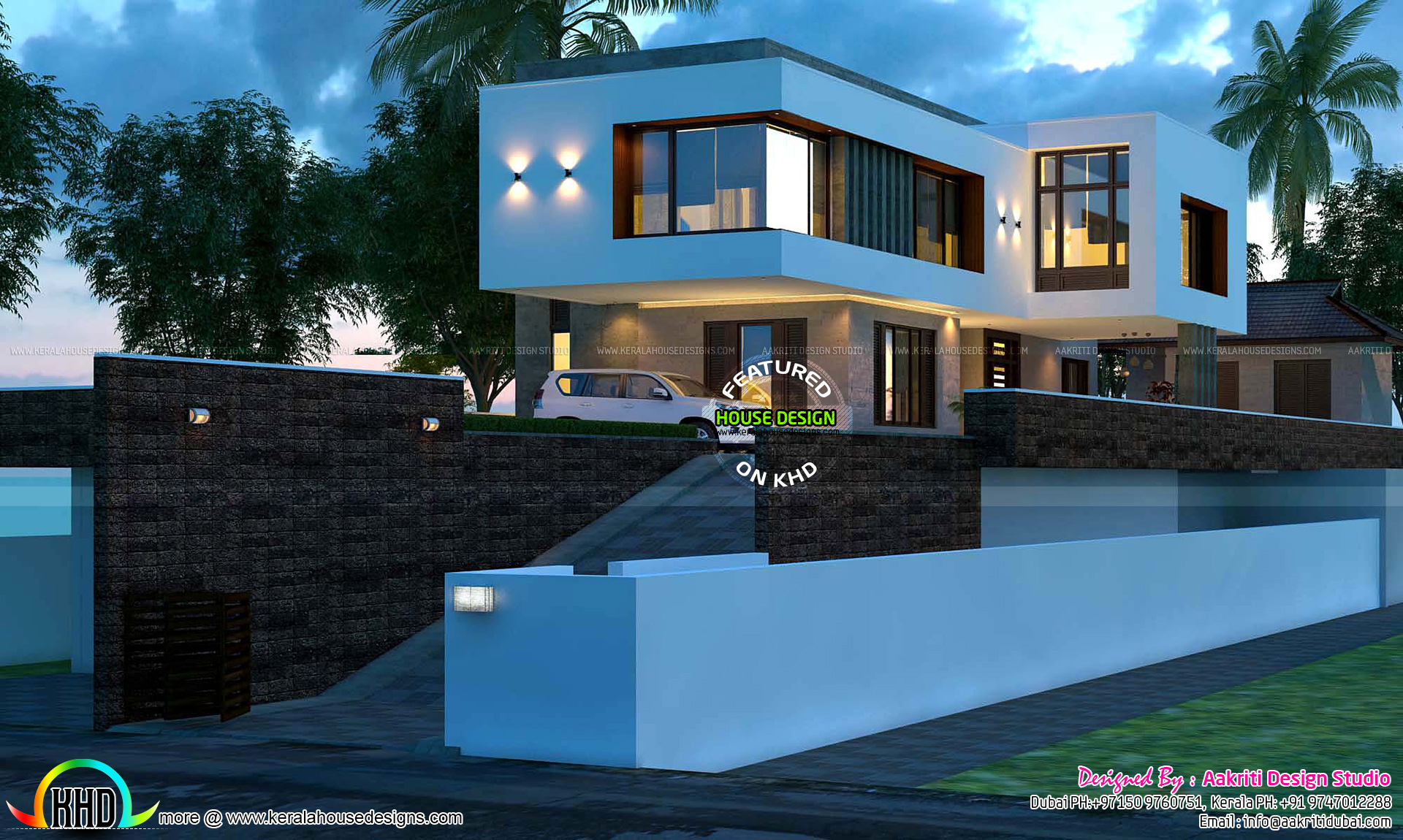 Awesome contemporary 400 sq yd house plan Kerala home design and