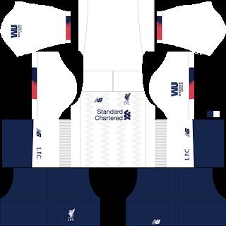 Liverpool 2019-2020 kit Dream League Soccer 2019