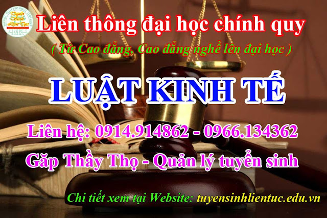 Liên thông Cao đẳng nghề lên Đại học Luật kinh tế Hà Nội