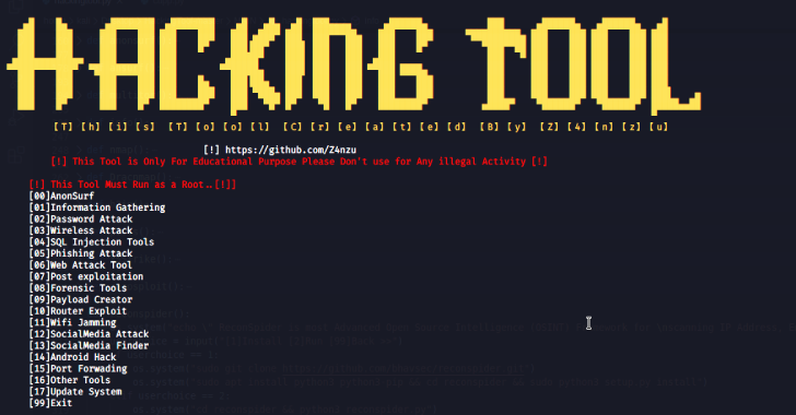 HackingTool : All In One Hacking Tool For Hackers