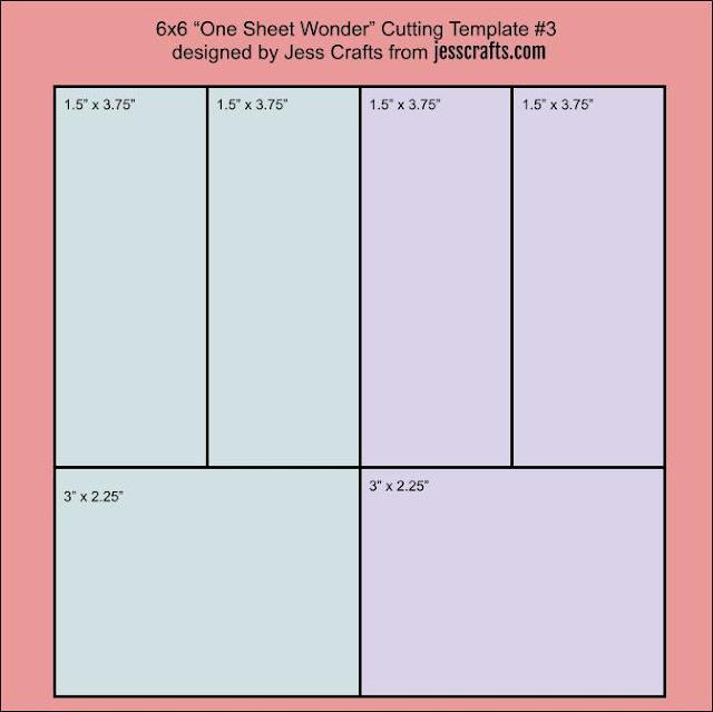 6x6 One Sheet Wonder Cutting Template #3 by Jess Crafts