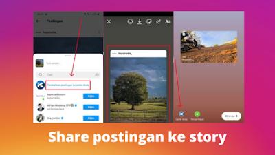 Cara membagikan postingan Instagram ke story ig