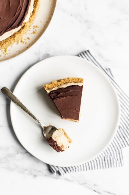 No-Bake Choco Peanut Butter Cheesecake