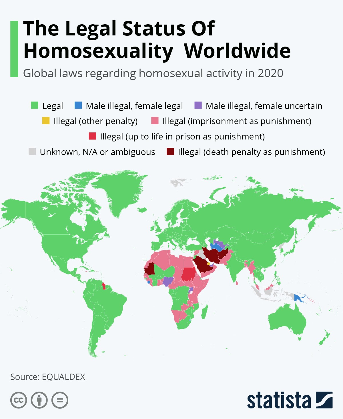 The Legal Status Of Homosexuality Worldwide #infographic