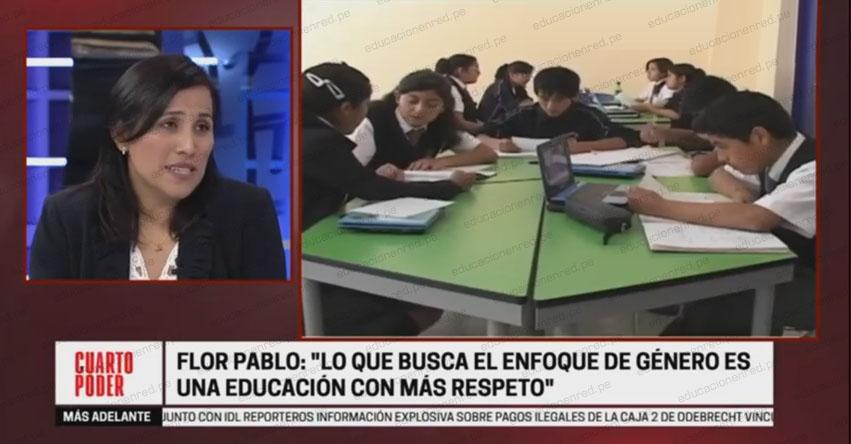 Entrevista a la Ministra de Educación, Flor Pablo Medina [VIDEO]