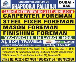 shapoorji pallonji job vacancies in dubai