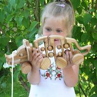 Lotes Toys Wooden Pull along Dinosaur (PA09)