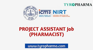 Pharmacist - Research Assistant,ICMR-NIRT Recruitment for Pharmacist,ICMR Pharmacist Job,B.Pharm,Walk-in Job B.Pharm,Pharmacist Job,