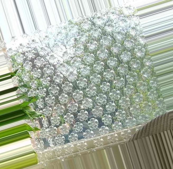 Curtains made of plastic bottles ~ Crazzy Craft