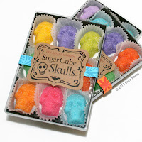 These hauntingly sweet, sugar cube skulls are created in the festive hues of Dia De Los Muertos Celebrations are the perfect way to set the mood for any occasion.
