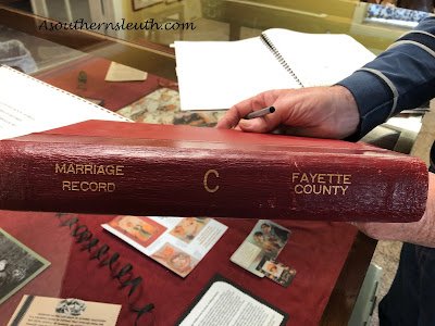 Marriage records, genealogy, Fayette County Marriage Records, Book C