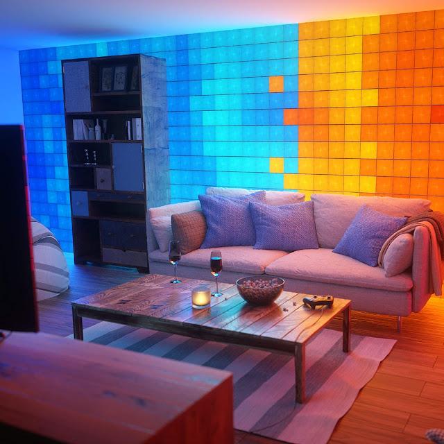 Nanoleaf Canvas Starter Kit - Color Changing Light Panels