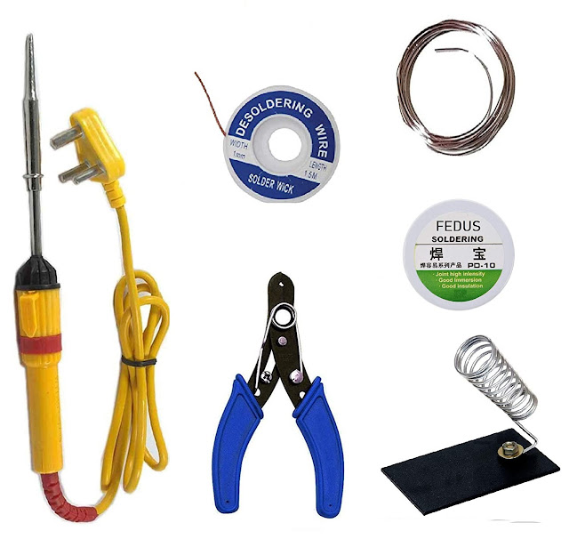6 in1 Electric Soldering Iron Stand Tool Wire Stripper Kit