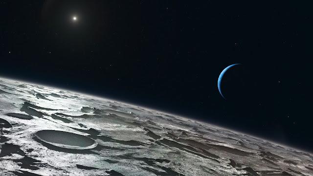 Surface of Neptune's Moon Triton